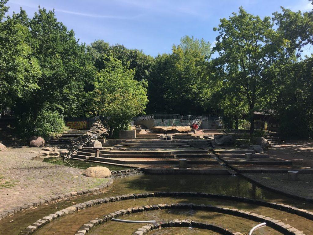 Wasserspielplatz im Südpark: Es war die Hölle los!